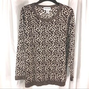 Pretty Animal Print Sweater, Size 1X